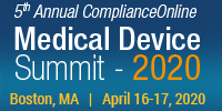 5th Annual ComplianceOnline Medical Device Summit 2020